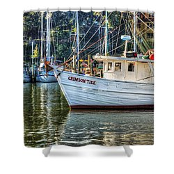 Crimson Tide In The Sunshine Shower Curtain by Michael Thomas