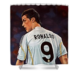 Cristiano Ronaldo Shower Curtain by Paul Meijering