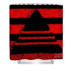 Crochet Pyramid Digitally Manipulated Shower Curtain by Kerstin Ivarsson
