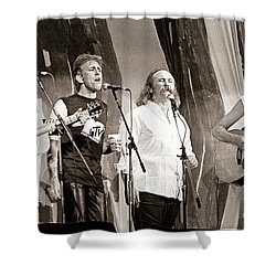 Crosby  Stills  Nash  And Young 1985 Shower Curtain by Chuck Spang
