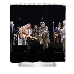 Crosby Stills Nash And Young Shower Curtain by Concert Photos