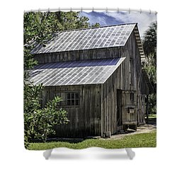 Cross Creek Barn Shower Curtain by Lynn Palmer
