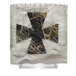 Cross Shower Curtain by Henrik Lehnerer