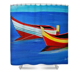 Cruising On A Bright Sunny Day Shower Curtain by Sonali Kukreja