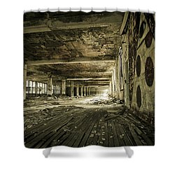 Crumbling History Shower Curtain by Priya Ghose