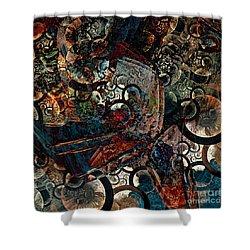 Crushed Spirals Shower Curtain by Klara Acel