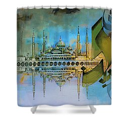 Crystal Mosque Shower Curtain by Corporate Art Task Force