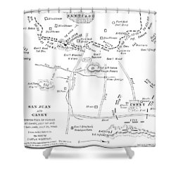 Cuba: San Juan Hill Shower Curtain by Granger
