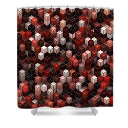 Cubed Again Shower Curtain by Jack Zulli