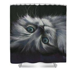 Cuddles Shower Curtain by Cynthia House