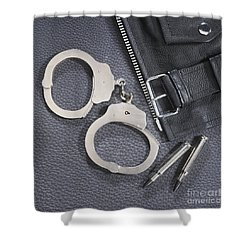 Cuffs Shower Curtain by Jerry McElroy