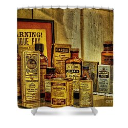 Cure Ya Or Kill Ya Shower Curtain by Lois Bryan