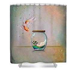 Curiosity Shower Curtain by Cindy Thornton