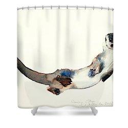 Curious Otter Shower Curtain by Mark Adlington