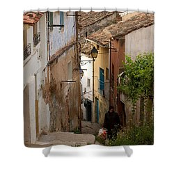 Currruca Slope Of Calahorra Shower Curtain by RicardMN Photography