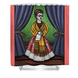 Curtains For Frida Shower Curtain by Victoria De Almeida