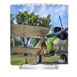 Curtiss Hawk IIi  Shower Curtain by Adrian Evans