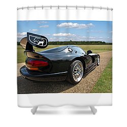 Curvalicious Viper Shower Curtain by Gill Billington