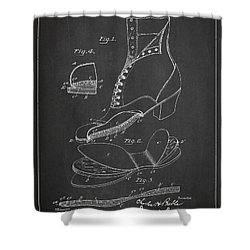 Cushion Insole For Shoes Patent Drawing From 1905 Shower Curtain by Aged Pixel
