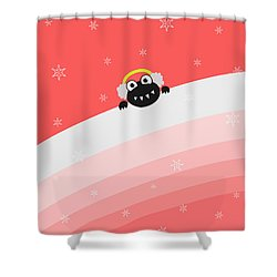 Cute Bug With Earflaps Shower Curtain by Boriana Giormova