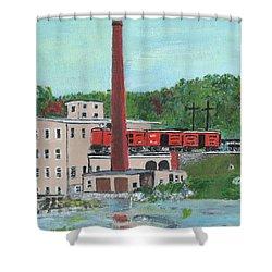 Cutler's Mill - Circa 1870 Shower Curtain by Cliff Wilson