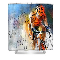 Cycloscape 01 Shower Curtain by Miki De Goodaboom