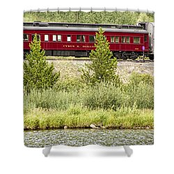 Cyrus K  Holliday Private Rail Car Shower Curtain by James BO  Insogna
