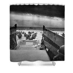 D-day Landing Shower Curtain by War Is Hell Store