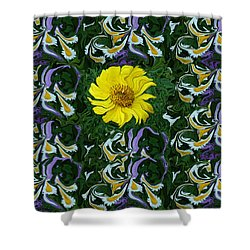 Daisy Poster Shower Curtain by Aimee L Maher Photography and Art Visit ALMGallerydotcom