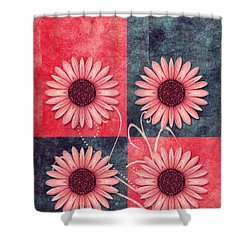 Daisy Quatro V13b Shower Curtain by Variance Collections