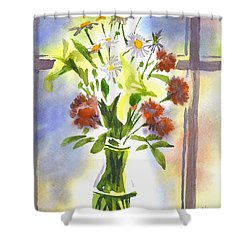 Daisy Supreme Shower Curtain by Kip DeVore