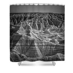 Dakota Badlands Shower Curtain by Perry Webster