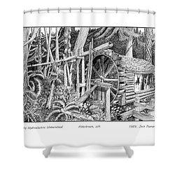 Dalby Waterwheel Hood Canal W A Shower Curtain by Jack Pumphrey
