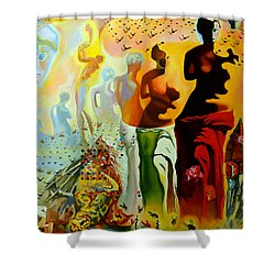 Dali Oil Painting Reproduction - The Hallucinogenic Toreador Shower Curtain by Mona Edulesco