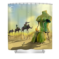 Dali On The Move  Shower Curtain by Mike McGlothlen