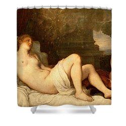 Danae Shower Curtain by Titian