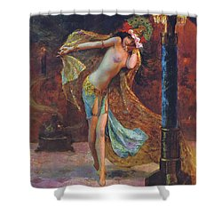 Dance Of The Veils Shower Curtain by Gaston Bussiere