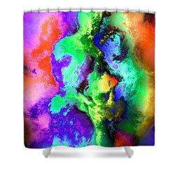 Dancers Shower Curtain by Kurt Van Wagner