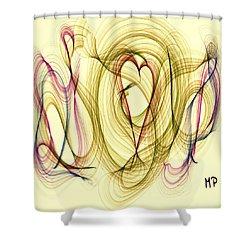 Dancing Heart Shower Curtain by Marian Palucci-Lonzetta