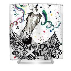 Dancing In Berlin Shower Curtain by Oddball Art Co by Lizzy Love