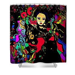 Dancing In The Moonlight Shower Curtain by Natalie Holland