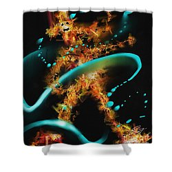 Dancing In The Rain Shower Curtain by Turquoise Brush