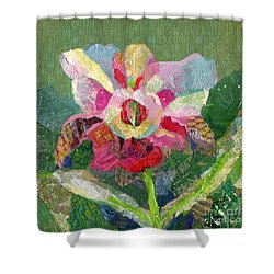 Dancing Orchid II Shower Curtain by Shadia Derbyshire