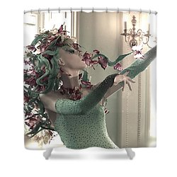 Dancing With Butterflies Shower Curtain by Marianna Mills