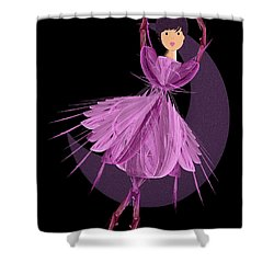 Dancing With The Moon A Shower Curtain by Andee Design