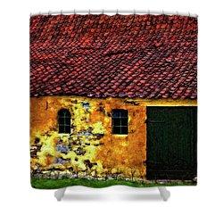Danish Barn Impasto Version Shower Curtain by Steve Harrington