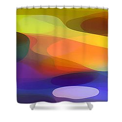 Dappled Light Panoramic 1 Shower Curtain by Amy Vangsgard