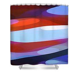 Dappled Light Panoramic 3 Shower Curtain by Amy Vangsgard