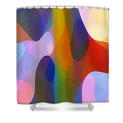 Dappled Light Panoramic Vertical 2 Shower Curtain by Amy Vangsgard