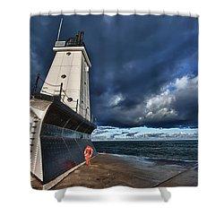 Dark Clouds Shower Curtain by Sebastian Musial
